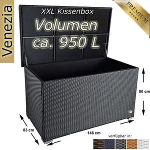 Auflagenbox Venezia Schwarz