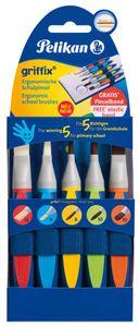Pelikan griffix Schulpinsel-Starter-Set 5-teilig synthetische Borsten