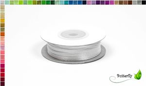50m Rolle Satinband 3mm, Farbauswahl:weiß 029