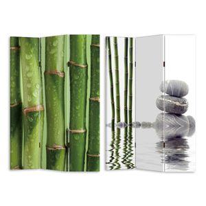 280168 Paravent Bambus 2 HTI-Line