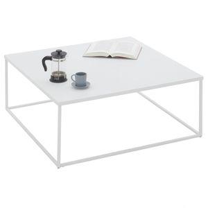 Couchtisch HILAR 80 x 80 cm, weiß