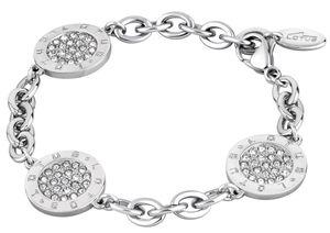 Edelstahl Armband Lotus Style LS1751-2/1 Strass Kreis Anhänger