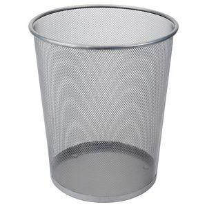 Papierkorb aus Metall 19 Liter Silber