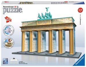 324 Teile Ravensburger 3D Puzzle Bauwerk Brandenburger Tor 12551