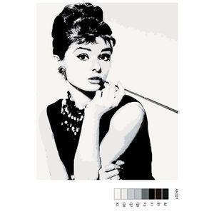 """Malen nach Zahlen """"Audrey"""", 40x50cm, ARTH-AH321"""