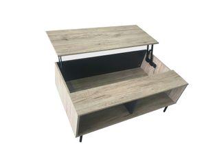 Couchtisch höhenverstellbare Deckplatte  Wohnzimmertisch Holztisch z Kleintisch Sofatisch