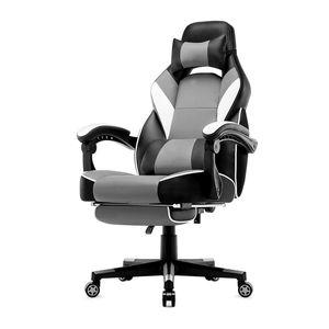 IntimaTe WM Heart - Racing Stuhl mit hoher Rückenlehne, Ergonomischer Gamingstuhl, Bürostuhl aus Kunstleder - Grau