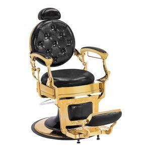 Barberpub Friseurstuhl Friseursessel mit Retro-/ Vintage Stil Gold 2933GD