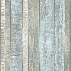 A.S. Création Vliestapete Best of Wood`n Stone 2nd Edition Tapete blau creme grau 10,05 m x 0,53 m 319932 31993-2