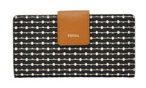 FOSSIL Logan RFID Tab Wallet Black Stripe