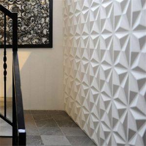 """12* 3D Wandpaneel Weiß PVC  Tapete Wanddekoration Deckenfliesen 12 """"x 12"""" Wandpaneele DIY Tapete Quadratische weiß"""