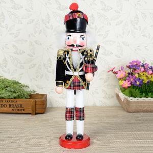 Weihnachten Nussknacker Holz Soldat Figur 30cm Deko Geschenk Farbig Party - Typ A