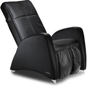 Massagesessel und Relaxsessel Keyton Deco H10 Echtleder schwarz