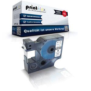 Kompatibles Schriftband für Dymo D1 45013 Labelmanager350Series Labelmanager360D Labelmanager400 Labelmanager420P S0720530 7 m x 12 mm Nylon Band BK / W - Color Serie
