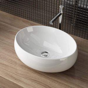 Waschbecken Waschschale Keramik Aufsatzwaschbecken Bad Gäste WC 40x30x13 cm WS291