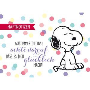"""Snoopy Collection - Haftnotizen """"glücklich"""", 40 Blatt, 100 x 72 mm"""
