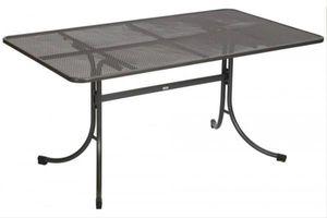MWH Universal Gartentisch - Material: Metall, Farbe: Eisengrau, Maße: 145 cmx90 cmx74 cm; 879005