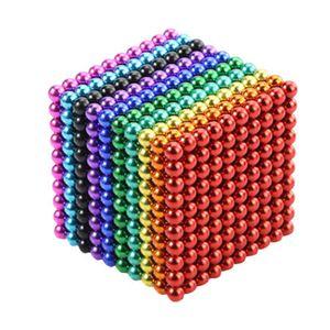 1000 Stück 3mm Magnetkugeln Zappeln Spielzeug Bunte Magnetkügelchen für Kinder Intelligenz Lernen und Erwachsene Stressabbau