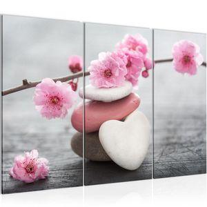 Feng Shui Blumen BILD 120x80 cm − FOTOGRAFIE AUF VLIES LEINWANDBILD XXL DEKORATION WANDBILDER MODERN KUNSTDRUCK MEHRTEILIG 500131a