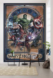 "Komar Vlies Fototapete ""Avengers Ornament"" - Größe: 200 x 280 cm (Breite x Höhe) - 4 Bahnen"