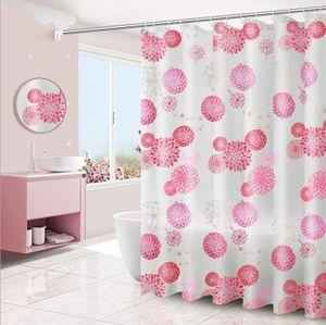 "mumbi Duschvorhang Vorhang Dusche Duschvorhänge 180 x 200 cm Badewannenvorhang Ersatzvorhang ""Rosa Blumen"""