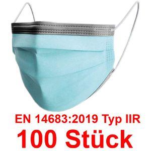 Medizinische Maske 100x Schutzmaske OP Maske EN14683:2019 Typ 2R IIR Einweg