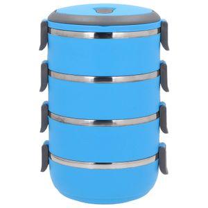 4 Etagen THERMOBEHÄLTER Kunststoff Thermo Isolierbehälter Speisebehälter 2,8L