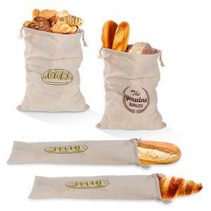 Leinen Brotbeutel Wiederverwendbare Brotbeutel Französischer Laib Brot Kordelzug Baumwollbrotbeutel