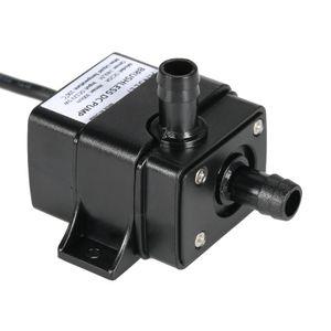 Flüsterleiser Mini DC12V Mikro bürstenlosen Wasser Öl Pumpe wasserdicht Tauchpumpe Brunnen Aquarium zirkulierenden 5W 240 L/H Förderhöhe 3 M 0  100℃