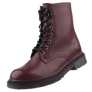 Dockers by Gerli Damen Stiefel Dessert Boots Combat Boots, Farbe:Rot (Burgunder), Größe:EUR 39