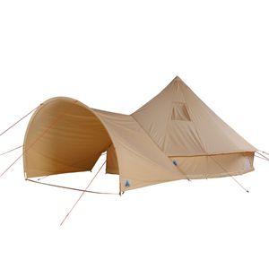 10T Desert 10 Plus - Tipi Zelt mit XXL Wohn- & Schlafbereich, Campingzelt für 5-10 Personen mit Sonnendach, Indianer