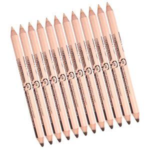 Set mit 12 Kosmetika 2 in 1 Make Up Pencil Concealer & Augenbrauenstift Farbe Braun + Helle Hautfarbe