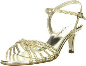 Vista Damen Sandaletten gold, Größe:36, Farbe:Gold