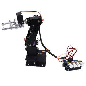 Roboterarm Modellbausatz mit 4 Dof als Lehrmittel Spielzeug und Geschenk, ca. 230 x 180 x 75 mm