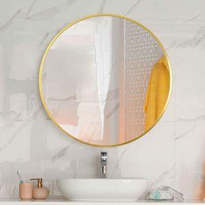 HF Home Feeling Premium Spiegel Rund - vielseitig Einsetzbar Dank schönem Design - Eleganter runder Spiegel mit einfache Montage - Wandspiegel Rund