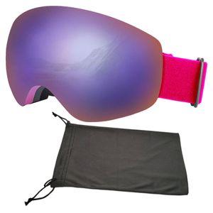 Anti-Fog Ski Schneemobilbrille Snowboard Sonnenbrille Wintersport Skifahren UV-Schutz für Kinder Erwachsene Farbe Schwarz Grau Lila