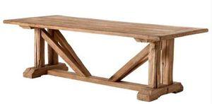 Casa Padrino Vintage Esstisch Eiche Rustikal Massiv 230 x 100 cm - Landhaus Stil Tisch massives Eichenholz