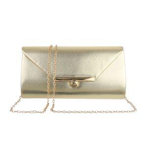 Ital-Design Damen Taschen Abendtaschen & Clutches Gold