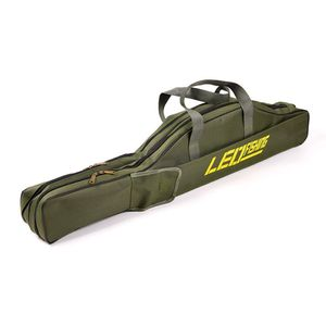 Faltbare Angelruten-Tasche Dunkelgrün 1,5 m  Lange Angelausrüstung weiche Tasche Angeltasche Tragbare Faltbare Angelrute Spulentasche Werkzeugkoffer Rutentasche Rutenfutteral