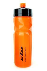 KTM Fahrrad Flasche, Trinkflasche 'Bottle Team 700', 700ml in orange mit schwarzem Logo, auslaufsicher, BPA-frei