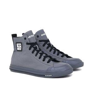 DIESEL Herren High Sneaker - S-Astico Mid Cut, High Tops, Leder Grau EUR 46