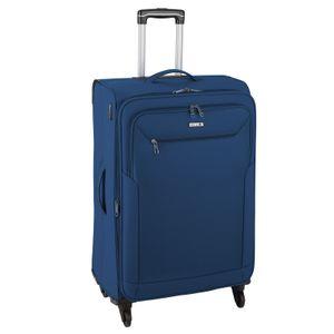 d&n Travel Line 6804 Reisekoffer Trolley 76 cm, erweiterbar, 4 x 360°-Rollen, Volumen 98 l, Farbe Blau
