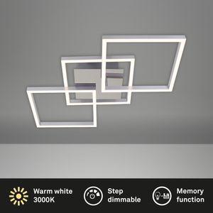 Briloner Leuchten - LED Deckenleuchte chrom-silberfarbig 36W dimmbar IP20