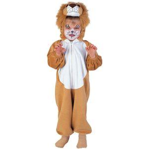 Kinder Löwe Plüschkostüm # Karneval Fasching Tier Kostüm # Gr. 104