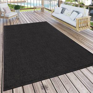 Outdoor Teppich Für Terrasse Und Balkon Küchenteppich Einfarbig Modern Schwarz, Grösse:300x400 cm