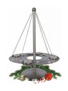 Edelstahl Adventskranz Kerzenhalter Teelichthalter Kranz Weihnachten Deko