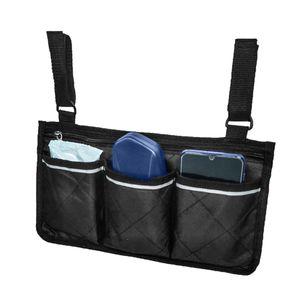 2 Stück Rollstuhl Seitentasche Beutel Organizer Handytasche