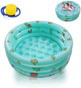 Aufblasbare Pools,Ucradle Planschbecken,Kinderpool Babypool 100cm Kinder Aufstellpool Aufblasbarem Baby Pool