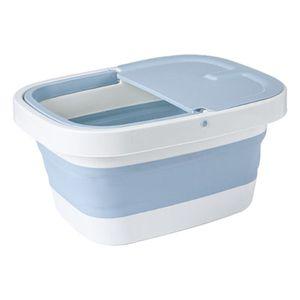 Fußbad Badewannenbecken Werkzeug Fußbad Faltbare zusammenklappbare Fußbadewanne Eimer Fußbadewanne Eimer Fußbadewanne Farbe Blau