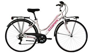 28 Zoll Trekking Rad Coppi Manhattan Damen 6 Gänge Weiß 44 cm Rahmengröße